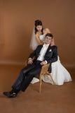 Potrait van bruid en bruidegom Stock Fotografie