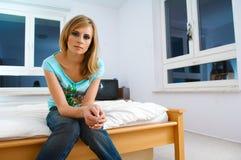 Portret van vrouw Stock Afbeeldingen