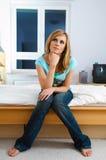 Portret van vrouw Stock Afbeelding