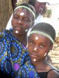 Potrait van schoolkinderen in culturele kostuums Stock Foto