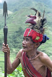 Potrait of very old Filipino Ifugao Warrior Stock Photos