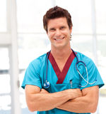 Potrait of a Young Doctor smiling at camera Stock Photography