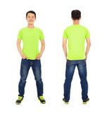 Potrait of young man standing ,front and back Royalty Free Stock Image