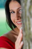 Woman in park. Potrait of young woman in a park Stock Images