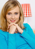 Portrait of woman. Potrait of young woman in the room Stock Photography