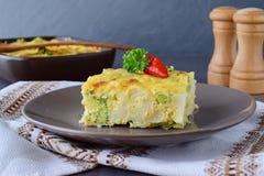 Potrawka z brokułami i coulliflower zdjęcie royalty free