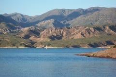 Potrerillos湖 图库摄影