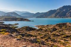 Potrerillos水坝, Mendoza,阿根廷 库存照片
