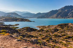 Potrerillos Dam, Mendoza, Argentina. View of the Potrerillos Dam, Mendoza, Argentina Stock Photo