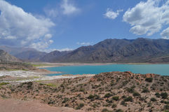 Potrerillos dam. Province of Mendoza. Argentina Royalty Free Stock Photos