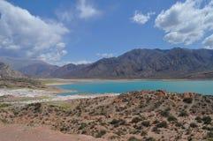 Potrerillos fördämning. Landskap av Mendoza. Argentina royaltyfria foton
