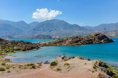 Potrerillos fördämning, Mendoza, Argentina Arkivfoton