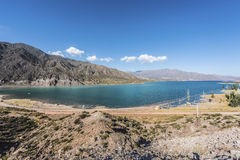 Potrerillos reservoir in Mendoza, Argentina Royalty Free Stock Images