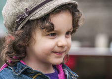 Potret of a little girl. Potret of a little happy girl Stock Photo