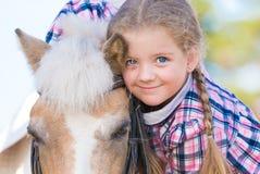 potro cara girl Ojos azules Cierre para arriba Foto de archivo libre de regalías