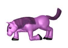 Potro púrpura en blanco Imágenes de archivo libres de regalías