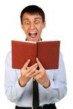 Potrtrait de jeune homme choqué de bussines Images stock