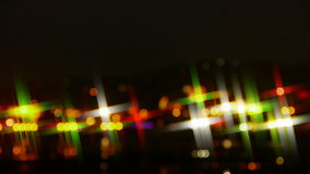 Potrząsalny gwiazdowy oświetlenie przy nocą zdjęcie wideo