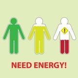 Potrzeby energia ilustracja wektor
