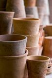 Pots. Pile of clay pots, shallow DOF stock images