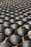 Pots. A lot of pots on Potters' Square in Bhaktapur, Nepal Royalty Free Stock Photos