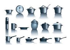 Pots&pans Photo libre de droits