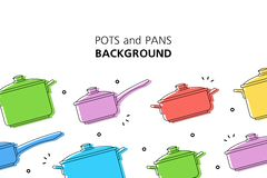 Free Pots And Pans Background Stock Photo - 144760970
