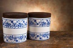 Pots antiques d'onguent ou de baume Photos libres de droits