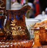 Pots antiques du marché Image libre de droits