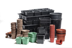 Pots and boxes Stock Image