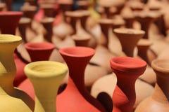 POTS. Cappadocia from Turkey colored pottery vases stock image