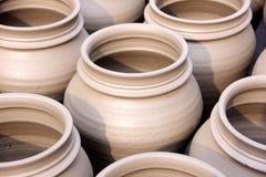 Pots Close-Up. Indian Hand Made Pots Close-up royalty free stock image
