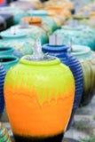 Pots colorés Images libres de droits