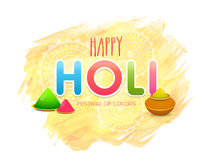 Pots with Colours for Holi Festival celebration. Indian Festival of Colours, Happy Holi celebration with pots full of shiny Colours royalty free illustration