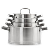 Pots d'acier inoxydable Photo stock