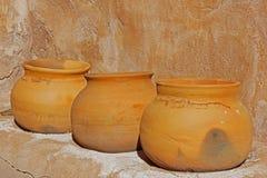 Pots d'argile antiques Photos libres de droits