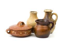 Pots d'argile, vieux vases en céramique Photo stock