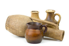 Pots d'argile, vieux vases en céramique Photos stock