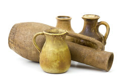 Pots d'argile, vieux vases en céramique Photo libre de droits