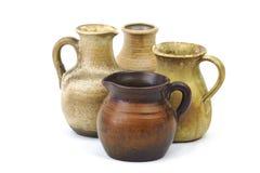 Pots d'argile, vieux vases en céramique Photos libres de droits