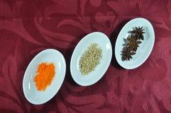 Pots d'ovale d'épice Photo stock