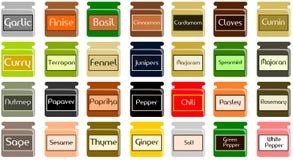 Pots d'épices Photo libre de droits