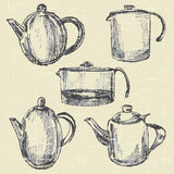 Pots de café Image libre de droits