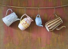 Pots de café de vintage Photo libre de droits