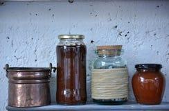 Pots de confiture Photos stock