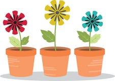 Pots de fleur Images libres de droits