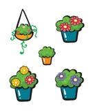 Pots de fleurs Image stock