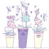Pots de fleurs Photos stock