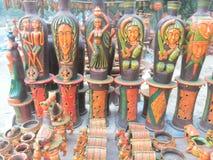 Pots de fleurs colorés Image stock