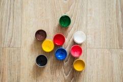 Pots de gouache Photographie stock libre de droits